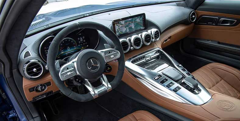 Mercedes AMG GT coupe interior